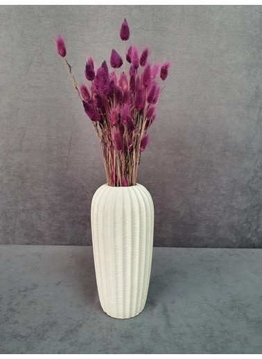 Kuru Çiçek Deposu Kuru Çiçek Pamuk Otu Demeti 35-40 Cm Mavi Mürdüm